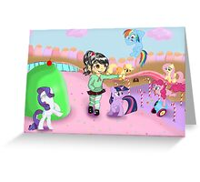 Vanellope and Ponies Greeting Card