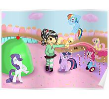 Vanellope and Ponies Poster