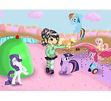 Vanellope and Ponies Photographic Print