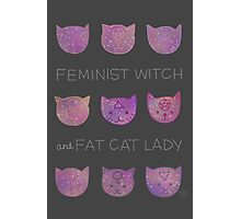 Feminist Witch and Fat Cat Lady Photographic Print