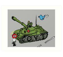 Chine vs Social Media caricature Art Print
