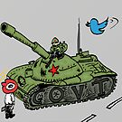 China vs. Social Media editorial cartoon by Binary-Options