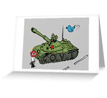 China vs. Social Media editorial cartoon Greeting Card
