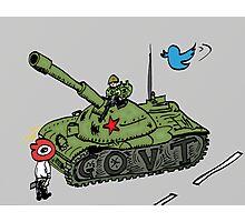 China vs. Social Media editorial cartoon Photographic Print