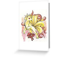 Nine tales and vulpix poster Greeting Card