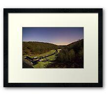 Overlooking Thruscross Reservoir toward the glowing horizon Landscape Framed Print
