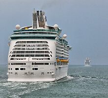 Cruising - MV Adventure Of The Seas, and MV Ventura. - The Solent by Colin J Williams Photography