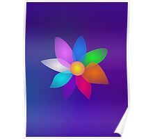 Flower in Space Art Poster