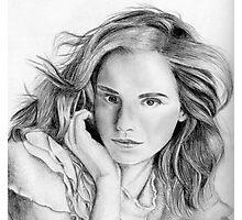 Emma Watson sketch Photographic Print