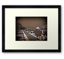 The port on the Tiber River Framed Print