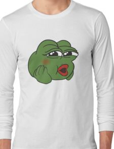 Cute Pepe the Frog Long Sleeve T-Shirt