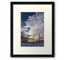 The Pearly Cloud  Framed Print