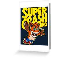 Super Crash Bro Greeting Card