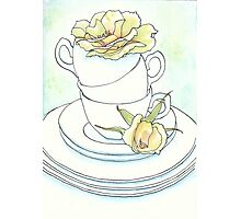 Teacups and Roses Photographic Print