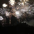Festival fireworks at Edinburgh Castle by Pat Millar