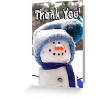 Happy Handmade Snowman - Thank You Greeting Card