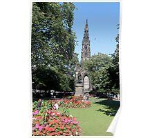 Scott Monument in Princes Street Gardens, Edinburgh Poster