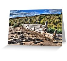 Beach Defence #2 Greeting Card