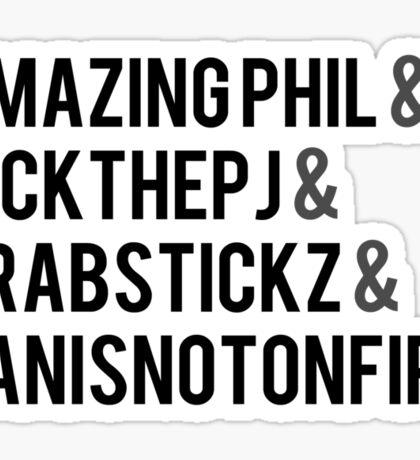 Fantastic Foursome Sticker