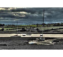 Alnmouth Estuary Yachts Photographic Print