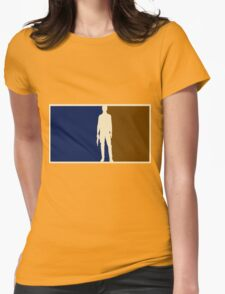 Han solo outline Womens Fitted T-Shirt