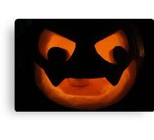 Scary Jack O Lantern Canvas Print