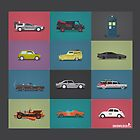 Iconic Cars - Collection - Square by David Wildish