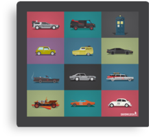 Iconic Cars - Collection - Square Canvas Print