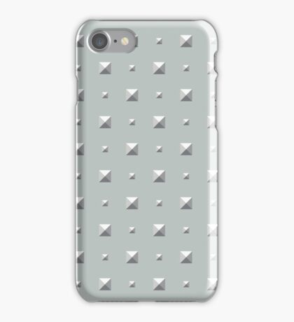 Studded Double Polka Stud on Slate Green Mist 2 iPhone Case/Skin