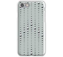Studded Chevron Stripe on Slate Green Mist 1 iPhone Case/Skin