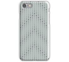 Studded Chevron Stripe on Slate Green Mist 1@50 iPhone Case/Skin
