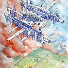 La Citta' Aerea by Luca Massone  disegni