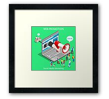 Marketing Concept Isometric Framed Print