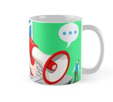 Marketing Concept Isometric Mug