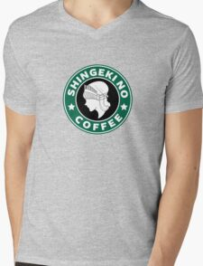 Shingeki no Coffee Mens V-Neck T-Shirt