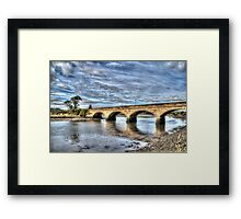 Alnmouth Bridge Framed Print