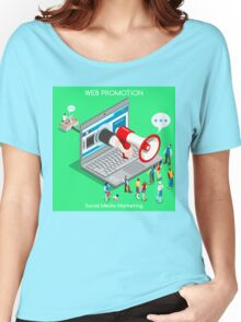 Marketing Concept Isometric Women's Relaxed Fit T-Shirt