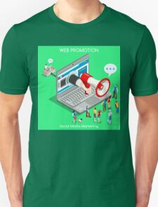 Marketing Concept Isometric T-Shirt