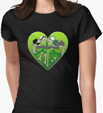 Psychobilly heart Womens Fitted T-Shirt