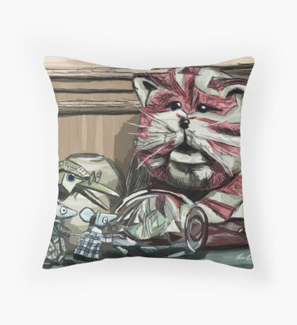 Bagpuss & pals! Throw Pillow