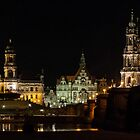 Night Across the Elbe at Dresden by Mark Heller