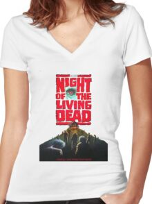 night of the living dead  Women's Fitted V-Neck T-Shirt