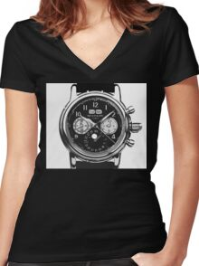 patek philippe watch abstract Women's Fitted V-Neck T-Shirt