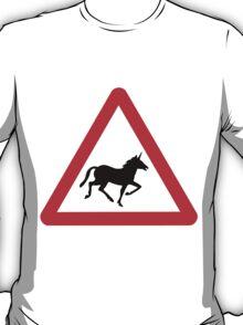 Unicorn Road Sign T-Shirt