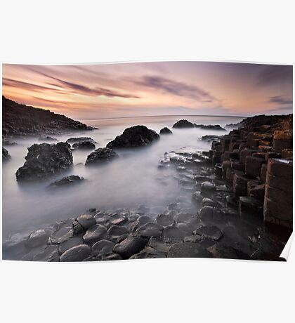 Giants Causeway at Twilight Poster