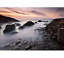 Giants Causeway at Twilight Photographic Print