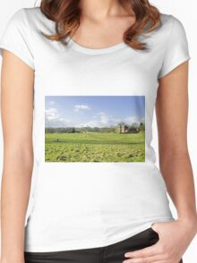 A Riverside Meadow at Mapleton Women's Fitted Scoop T-Shirt