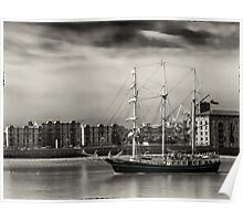 Tall Ship on the Thames Poster