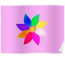 Simple Flower Art Pink Poster