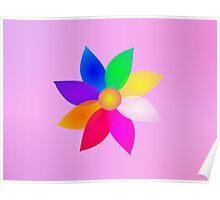 Simple Flower Art Mist Poster